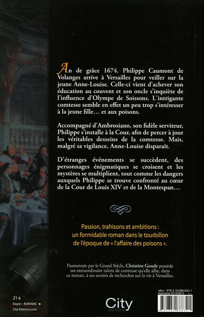 Dos du roman - La Cour des Poisons -